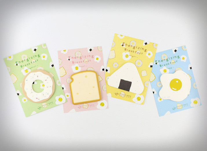 Breakfast Food Sticky Memo Notes (4 Designs) - Ice Cream Cake