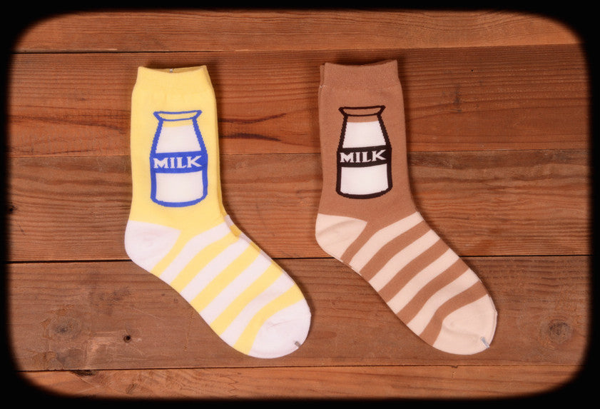 Milk bottle socks - Ice Cream Cake