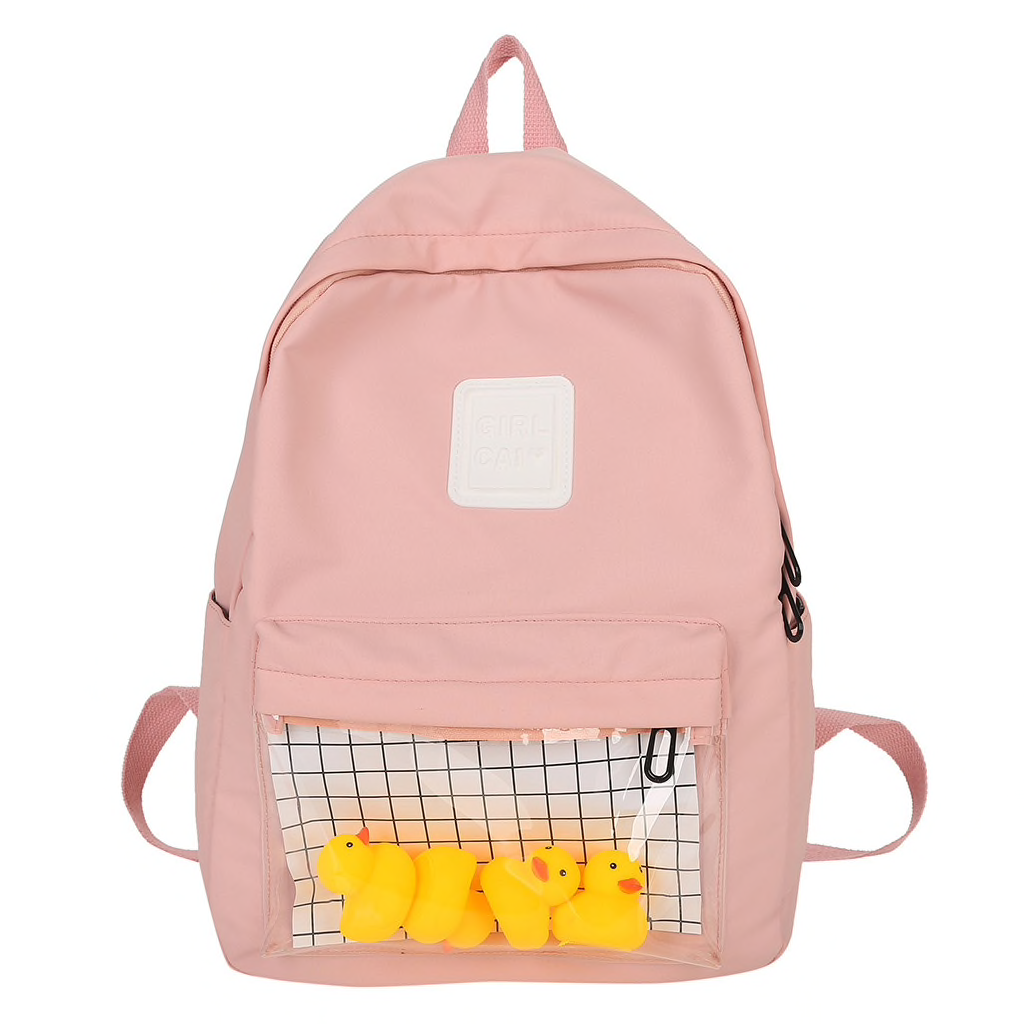 Clear Pocket Pastel Backpack (4 Colours) - Ice Cream Cake