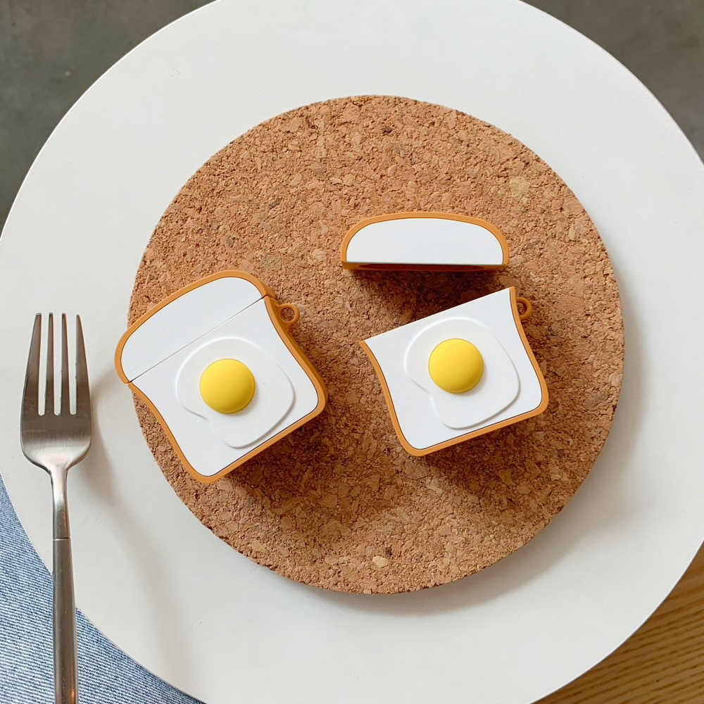 Egg on Toast Airpod Case Cover - Ice Cream Cake