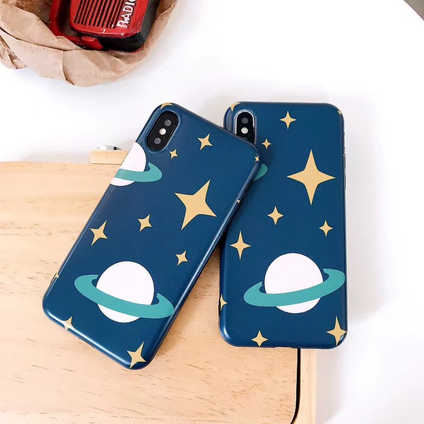 Space Saturn iPhone Case