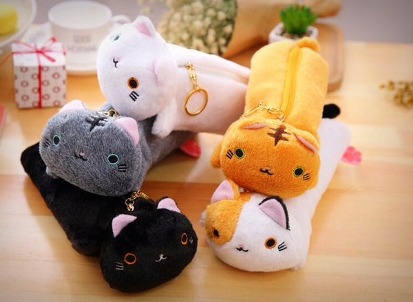 Kitty Cat Pencil Case (5 Designs) - Ice Cream Cake