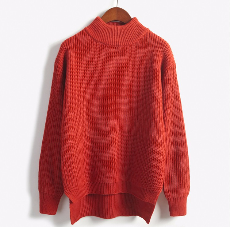 Turtleneck Knit Jumper (8 colours) - Ice Cream Cake