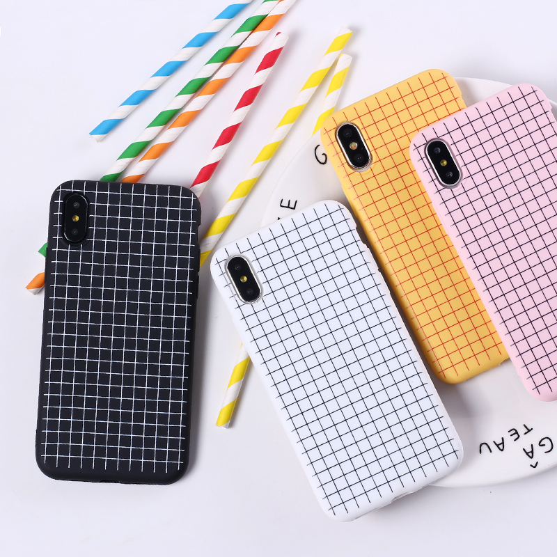 Notebook Grid iPhone Case (4 Colours) - Ice Cream Cake