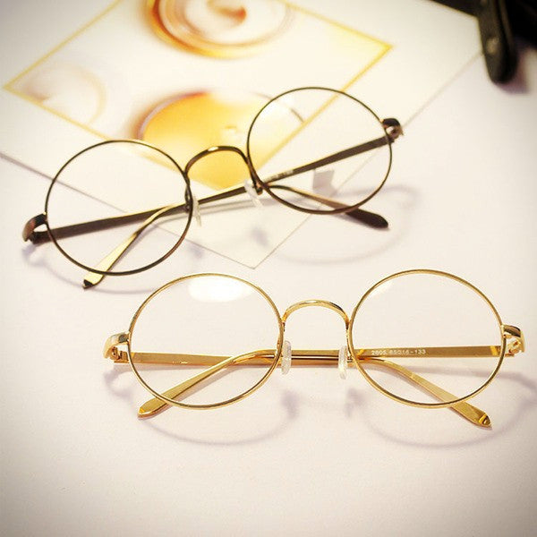 Vintage Style Round Frame Geek Glasses - Ice Cream Cake