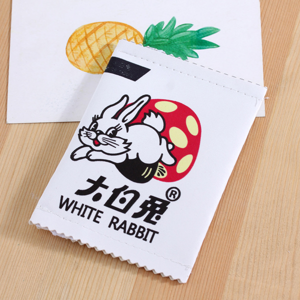 White Rabbit Candy Zipper Pouch