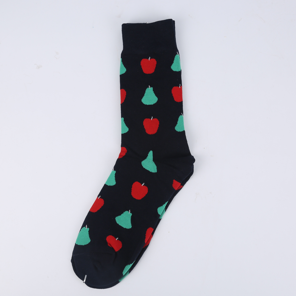 Black Pears and Apples Socks - Ice Cream Cake