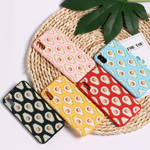 Avocado Pattern iPhone Case (5 Colours) - Ice Cream Cake