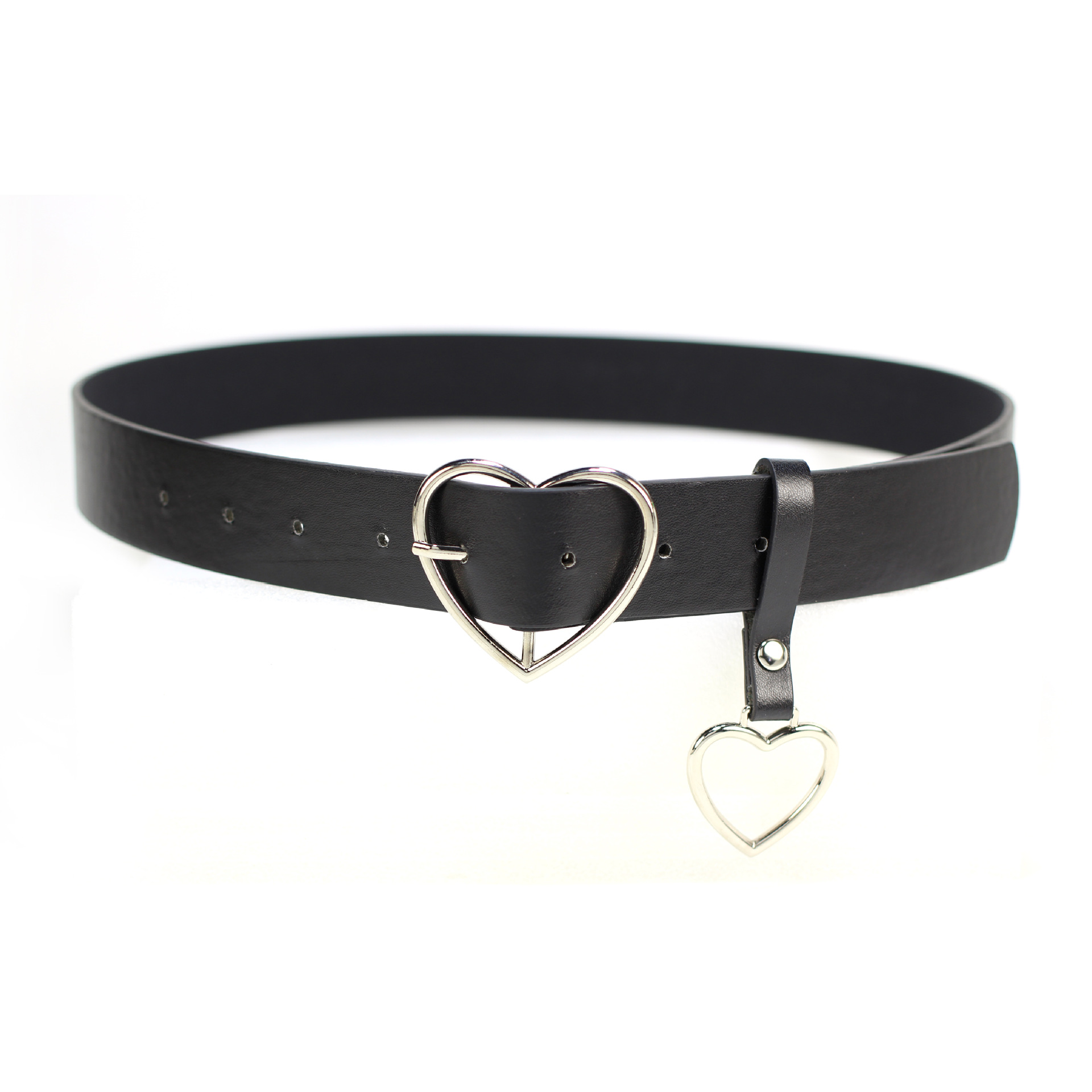 Heart Buckle Belt with Heart Strap (2 Colours) - Ice Cream Cake