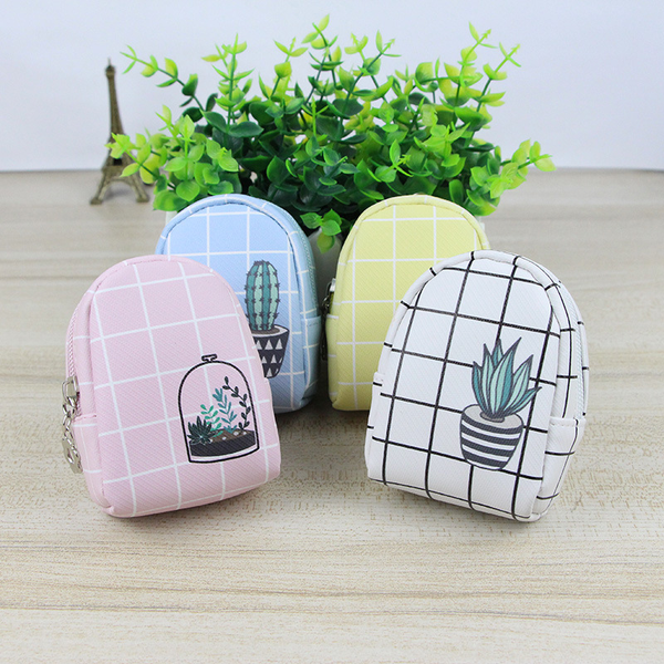 Houseplant Grid Coin Purse (4 Designs) - Ice Cream Cake