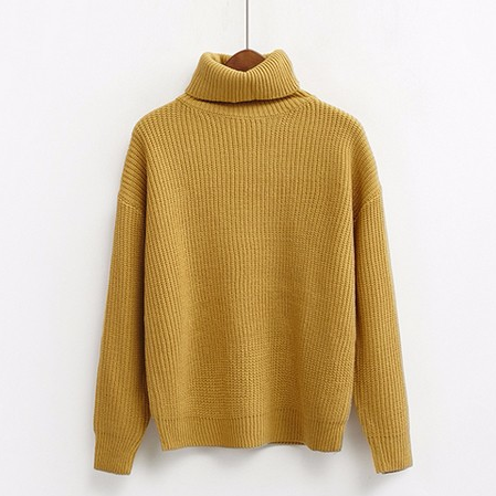 Roll Turtleneck Knit Jumper (8 colours) - Ice Cream Cake