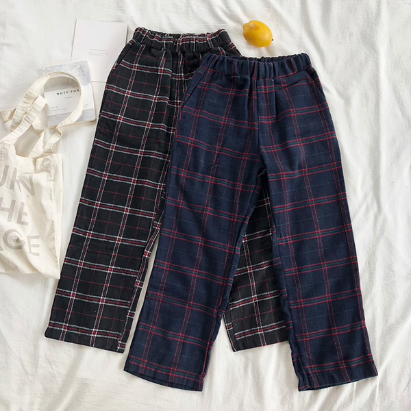 Plaid Pajama Style Pants (2 Colours)