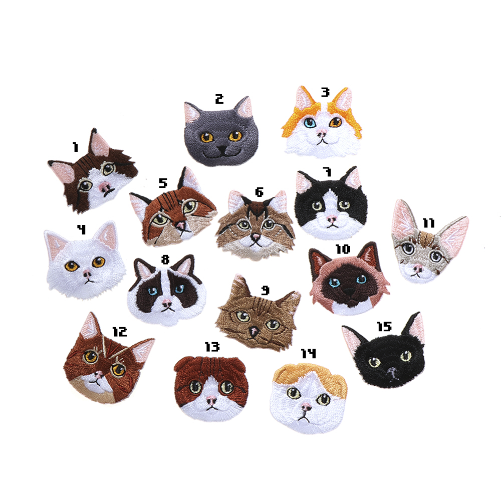 Iron-on Cat Patch (15 designs) - Ice Cream Cake