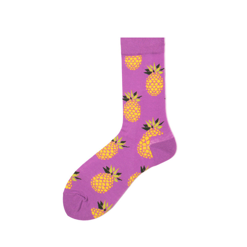 Purple Pineapple Socks - Ice Cream Cake