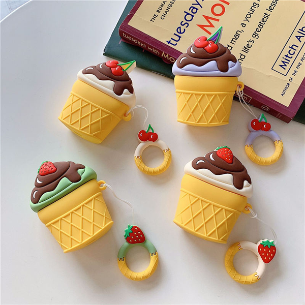 Fruity Ice Cream Airpod Case Cover (4 Designs) - Ice Cream Cake
