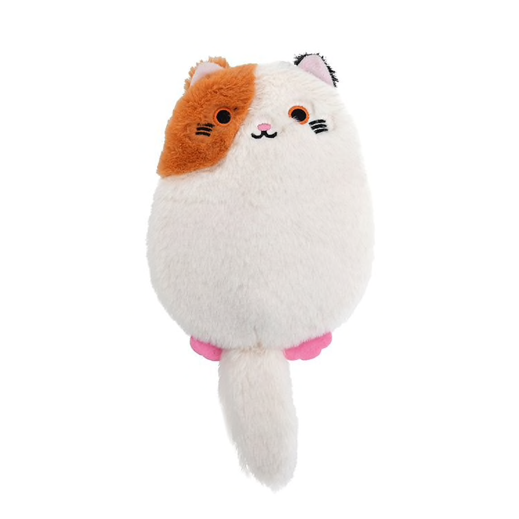 Plush Cat Zipper Crossbody Purse (4 Colours) - Ice Cream Cake