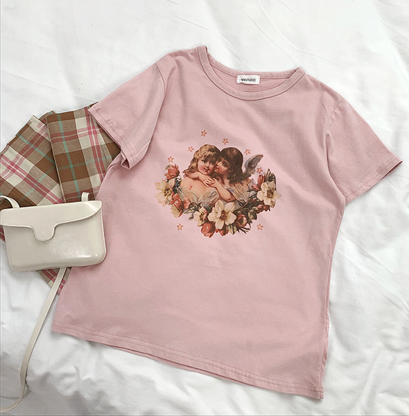 Pink 90s Cherub T-shirt - Ice Cream Cake