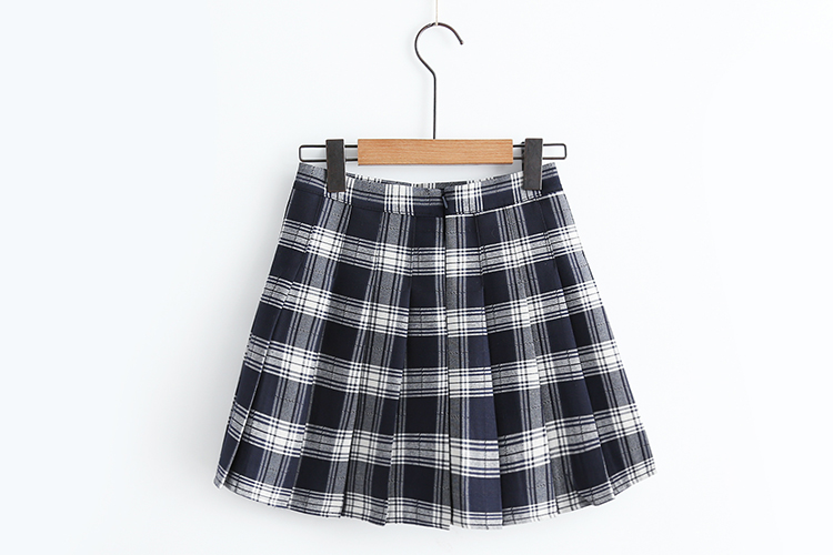 90s Style Check Pleat Skirt (3 Colours) - Ice Cream Cake