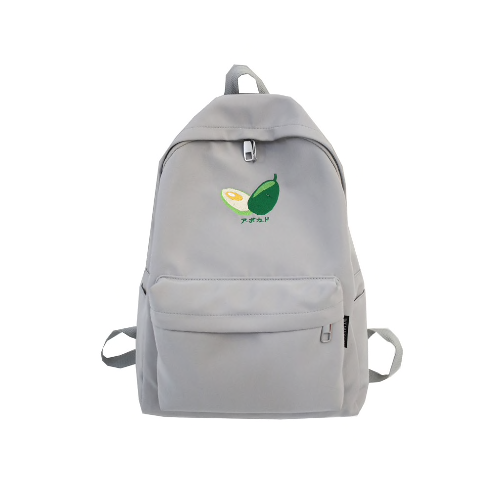 Avocado Katakana Backpack (5 Colours) - Ice Cream Cake
