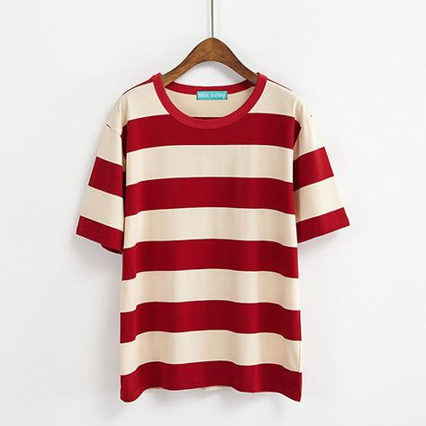 Boyish Stripe Tee (5 Colours) - Ice Cream Cake