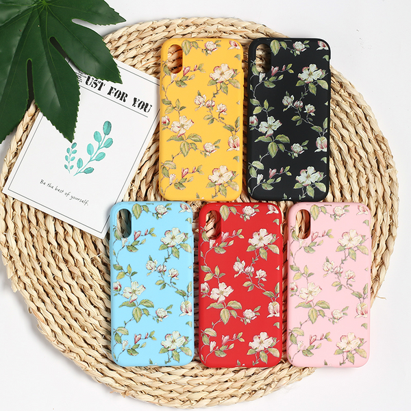Vintage Flower Pattern iPhone Case (5 Colours)