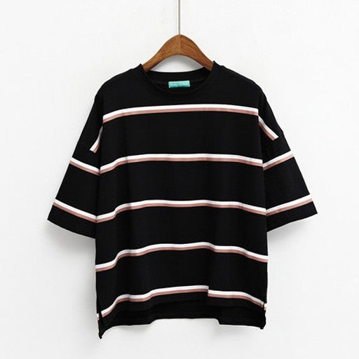 Double Stripe T-shirt (3 Colours) - Ice Cream Cake