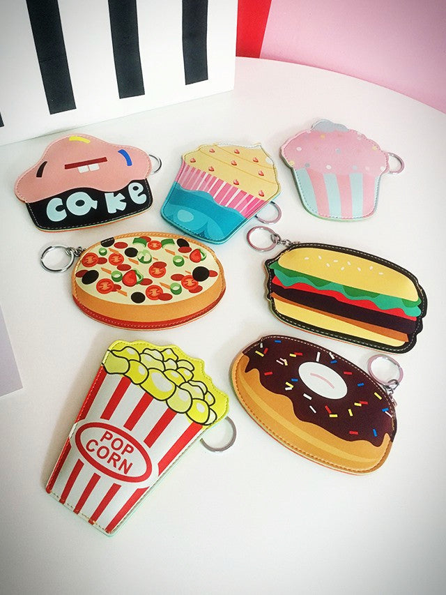 Snack Pack Keychain Zipper Purses (7 designs) - Ice Cream Cake