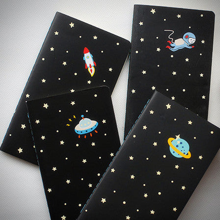 Outer Space Softcover Notebook (4 Designs) - Ice Cream Cake