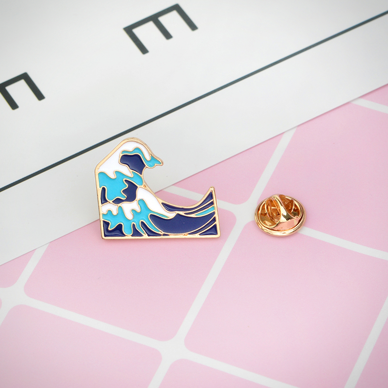 Hokusai Waves Enamel Pin - Ice Cream Cake