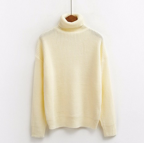 Roll Turtleneck Knit Jumper (8 colours)
