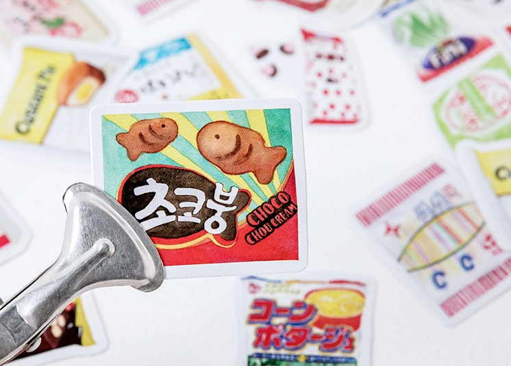 Asian Snacks Sticker Pack (46pcs) - Ice Cream Cake