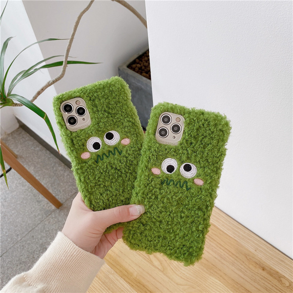 Green Monster Teddy iPhone Case