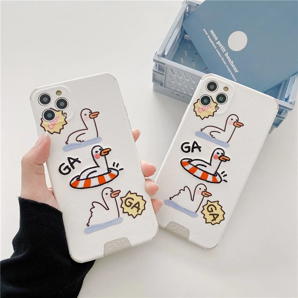 Embroidered Floaty Duck iPhone Case
