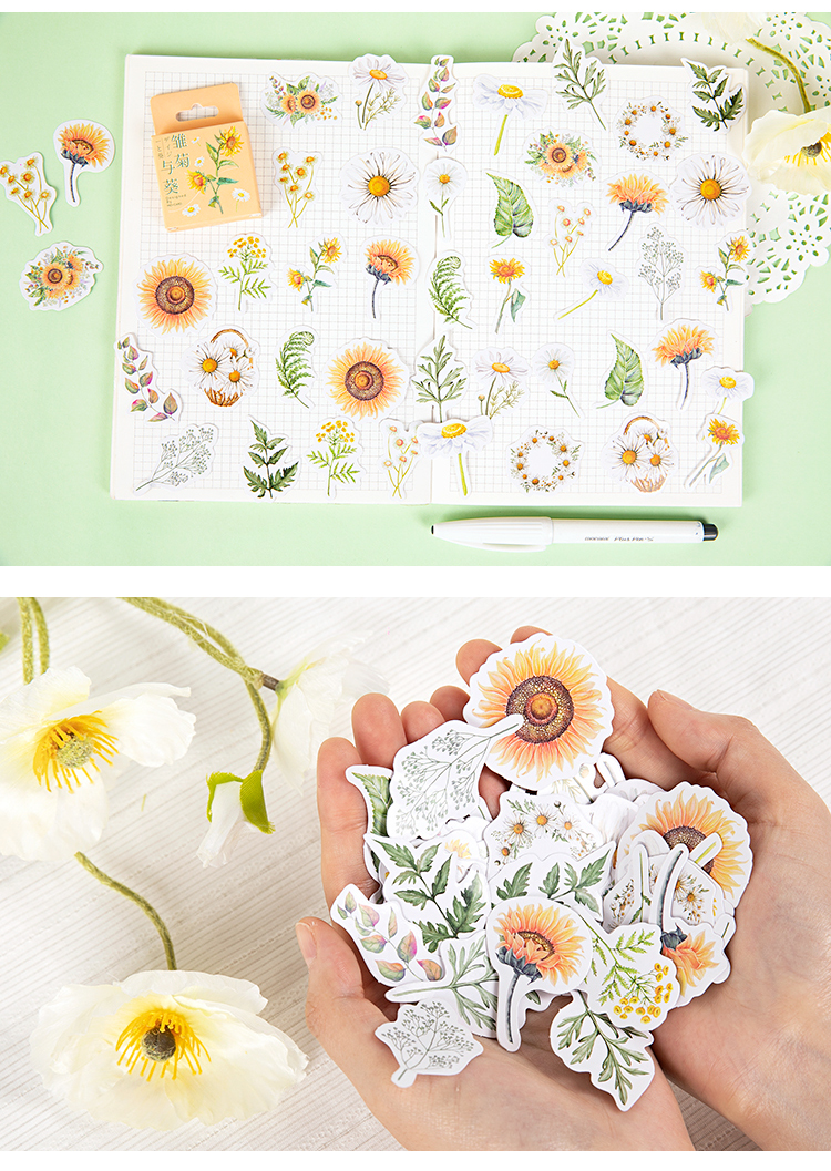 Daisies and Sunflowers Sticker Pack (46pcs)