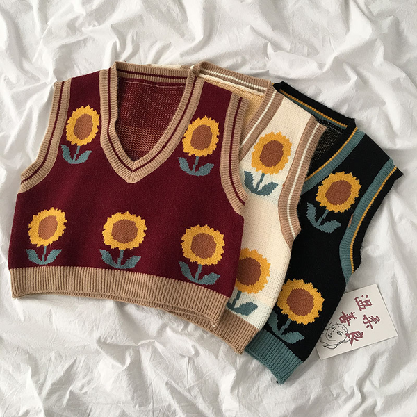 Sunflower Sweater Vest (3 colours)