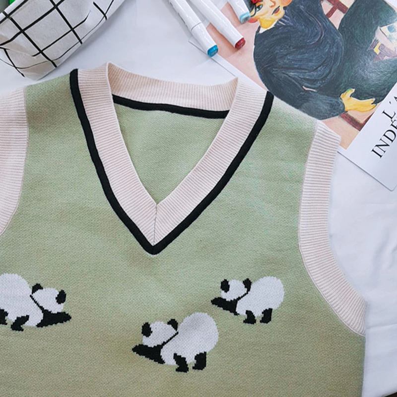 Panda Party Sweater Vest (2 Colours)