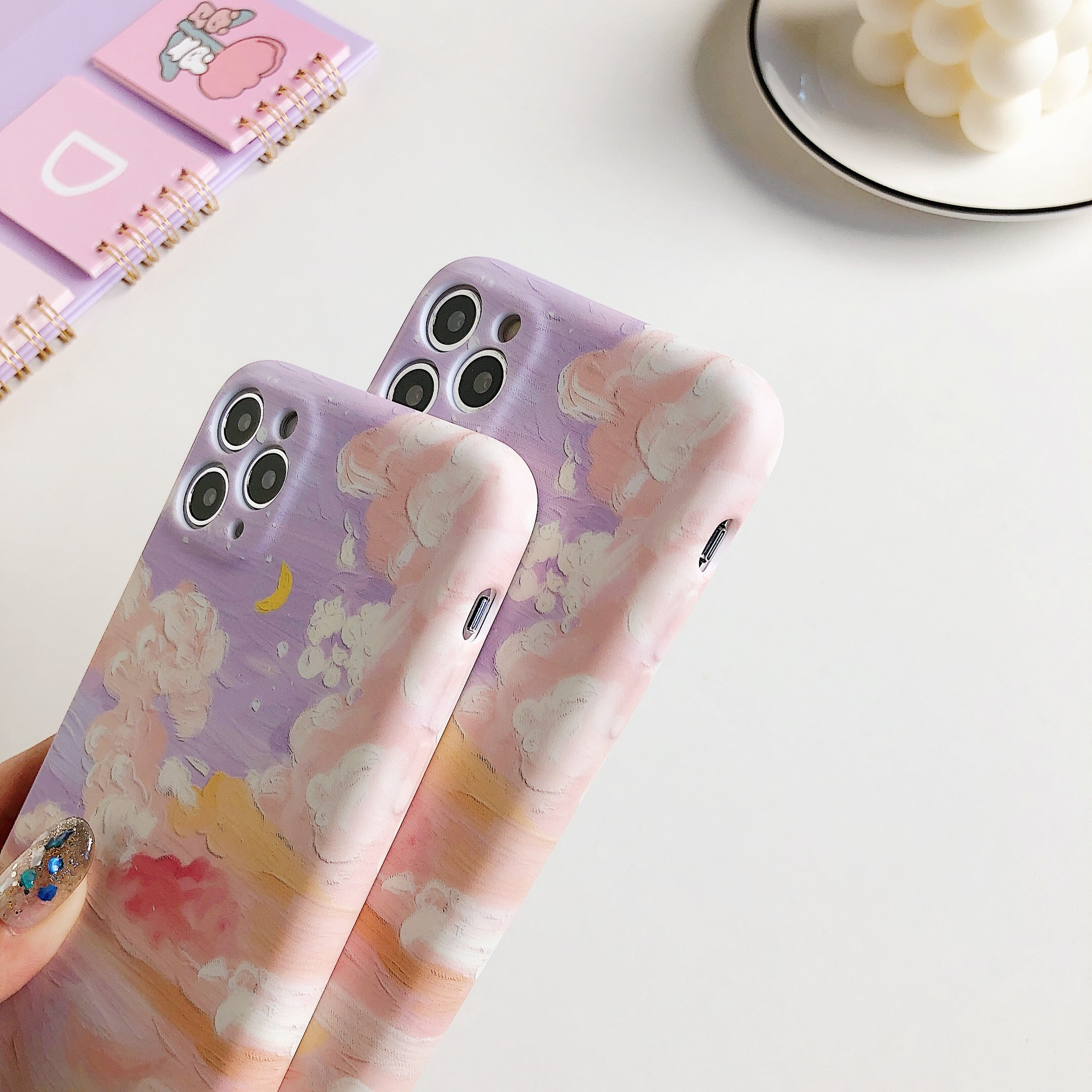 Pastel Painted Sky iPhone Case