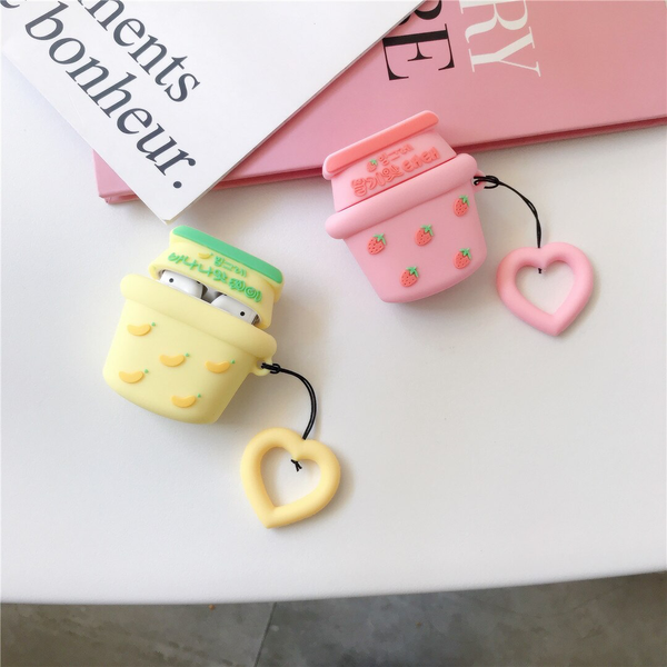 Korean Fruit Milk Airpod Case Cover (2 Designs) - Ice Cream Cake