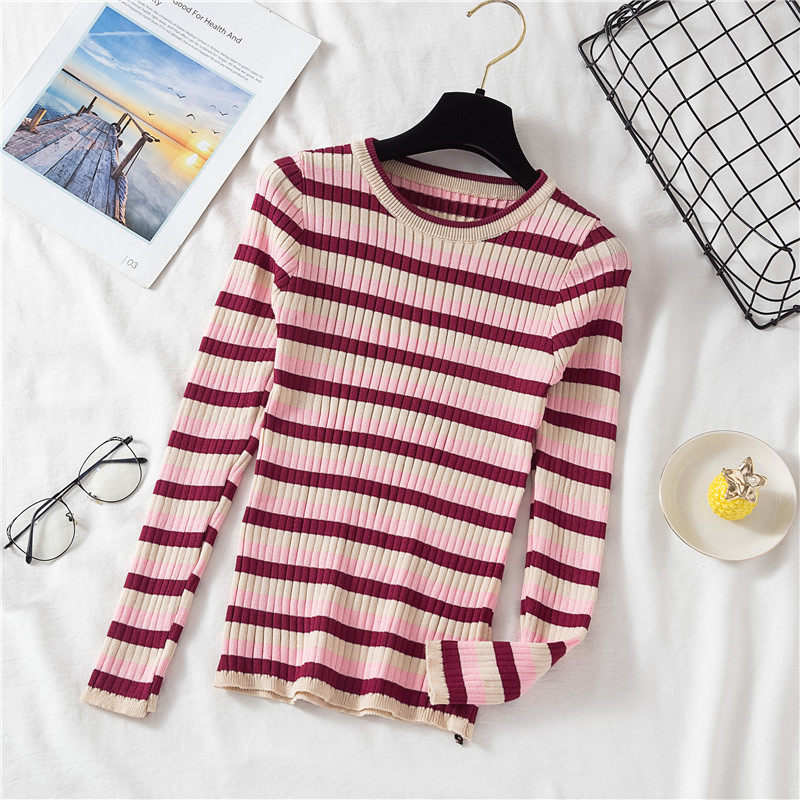 Penny Striped Rib Tee (4 Colours) - Ice Cream Cake