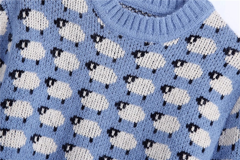 Sheep Pattern Jumper
