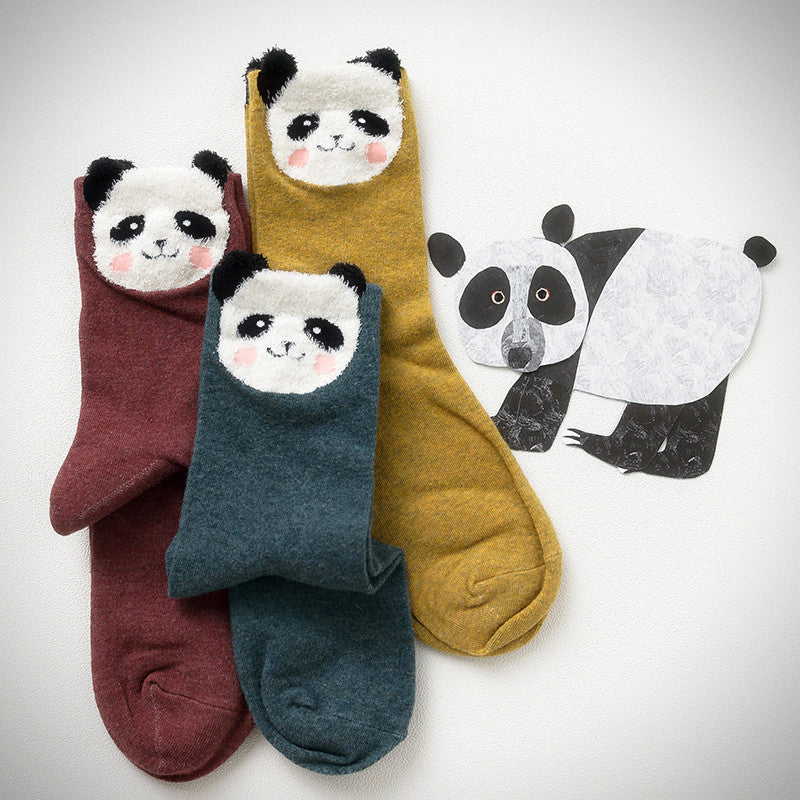 Fuzzy Face Panda Socks (3 Colours) - Ice Cream Cake
