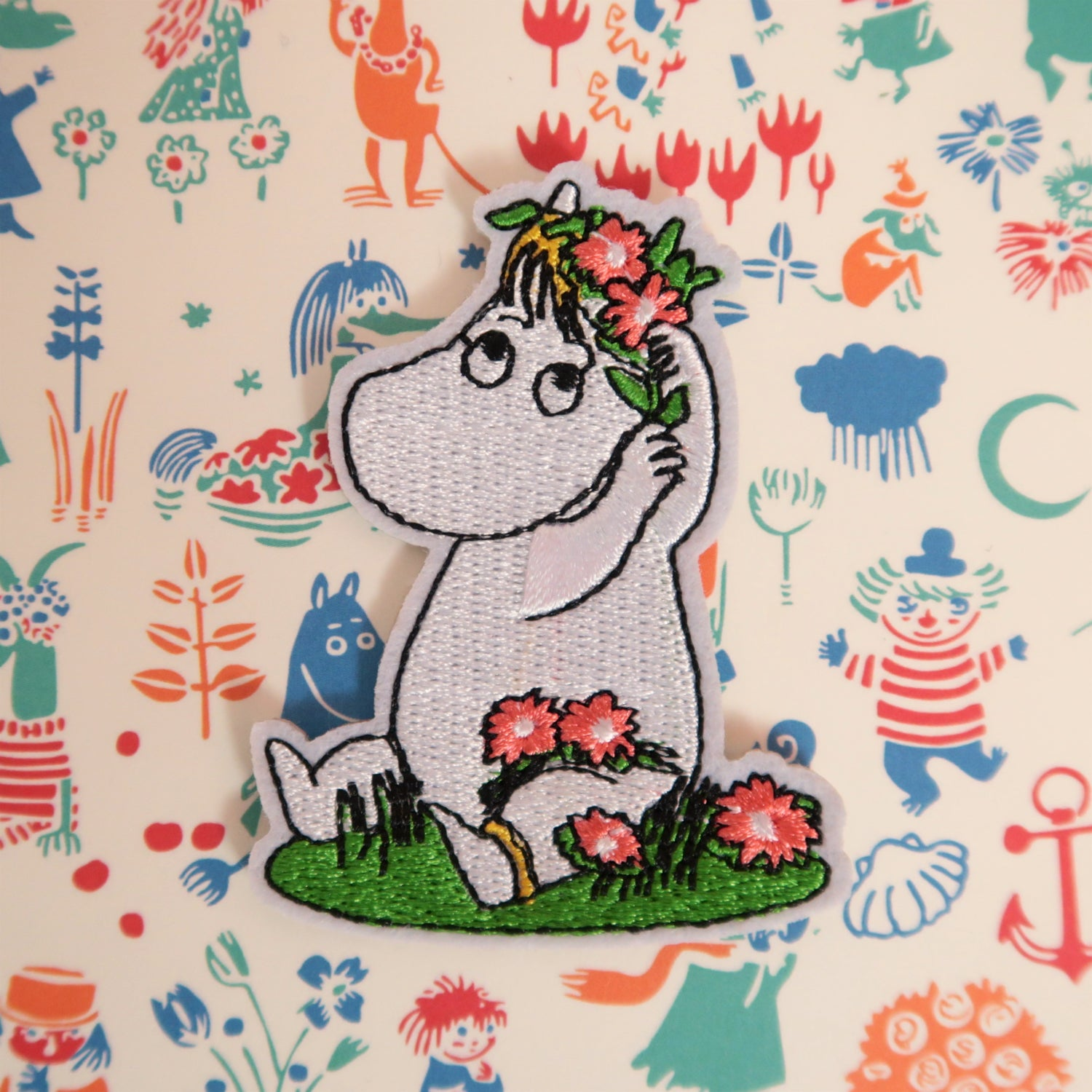 Flower Crown Moomin Patch - Ice Cream Cake