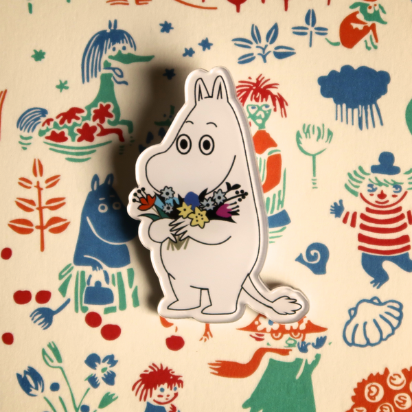 Flower Moomin Acrylic Badge - Ice Cream Cake