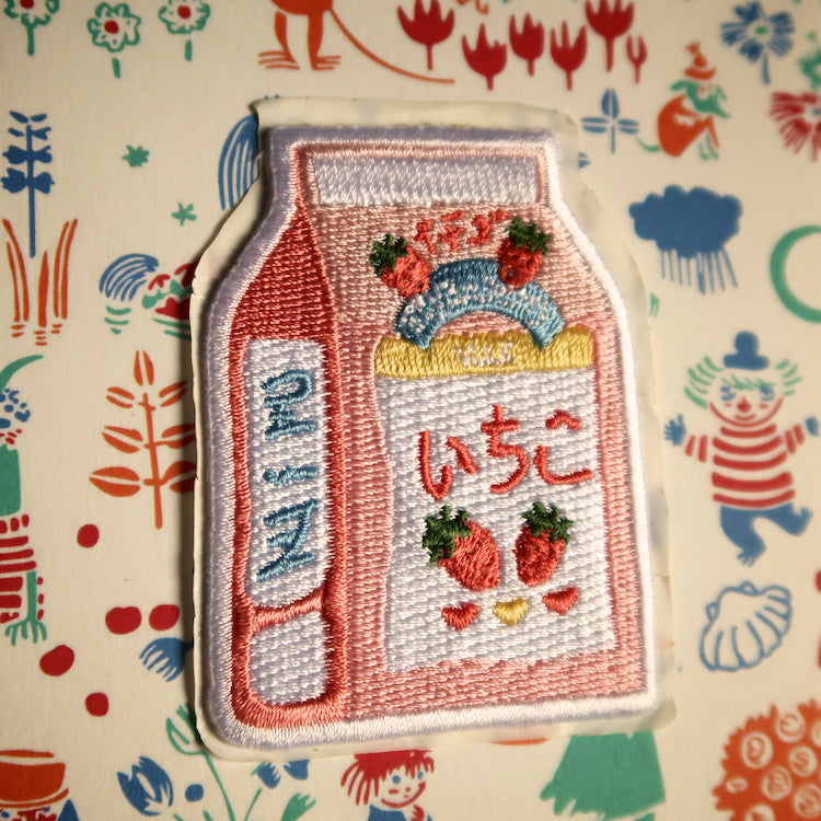 Ichigo Strawberry Milk Sticker Patch - Ice Cream Cake