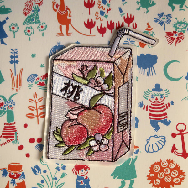 Peach Juice Sticker Patch