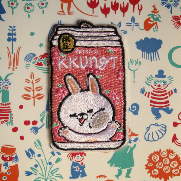 Bunny Strawberry Soda Iron-On Patch - Ice Cream Cake