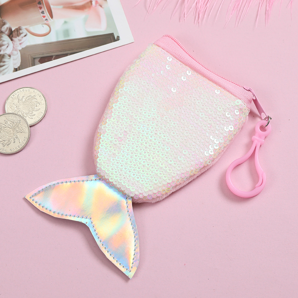 Sequin Fish Tail Coin Purse (6 Colours) - Ice Cream Cake