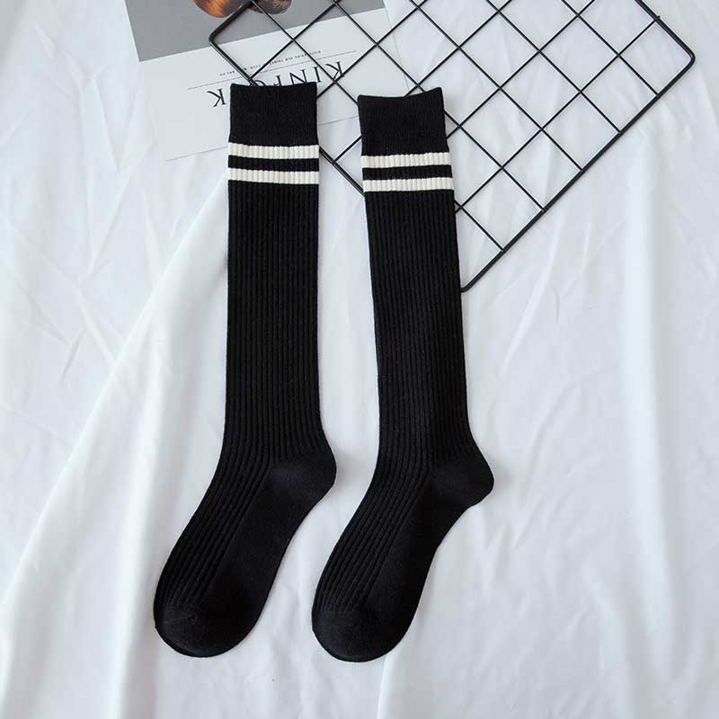 High Vintage Style Stripe Socks (6 Colours)
