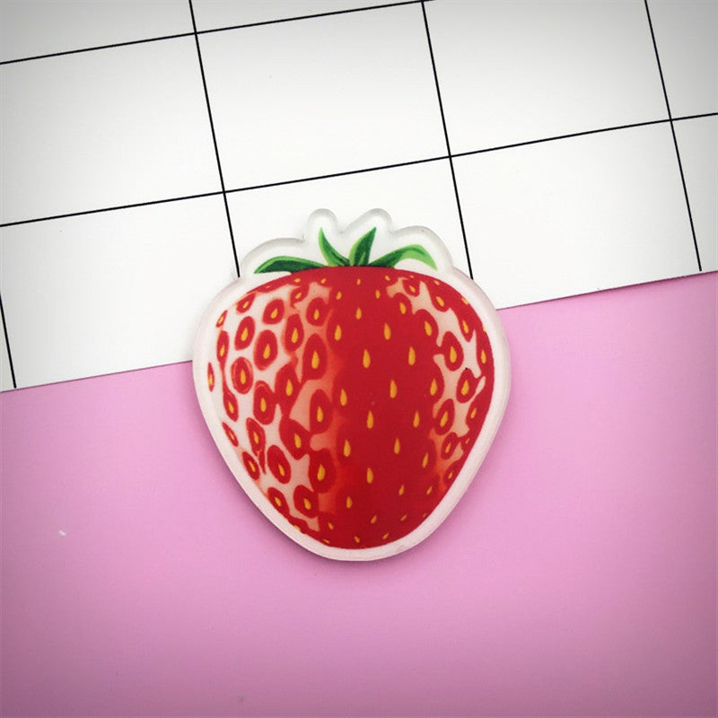 Acrylic Strawberry Brooch - Ice Cream Cake