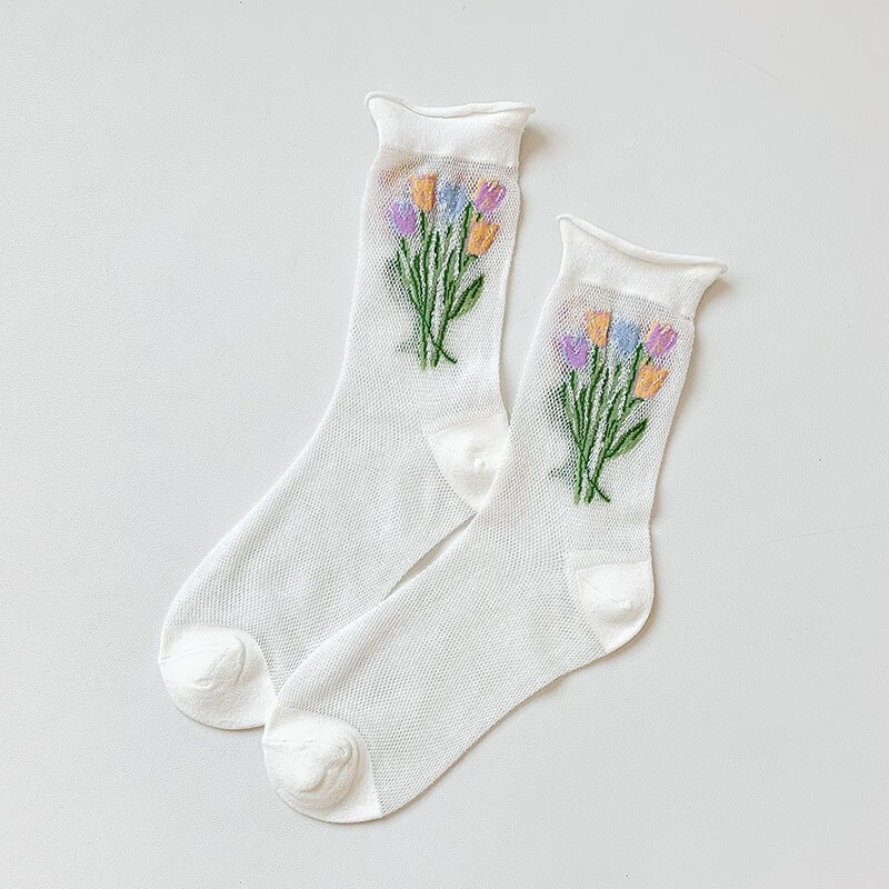 Tulip Bouquet Ankle Socks (7 Colours)